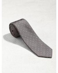 John Varvatos - Gray Classic Micro Dot Tie for Men - Lyst