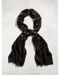John Varvatos | Black Vintage Silk Print Scarf for Men | Lyst