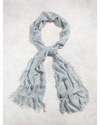 John Varvatos | Gray Modal Tie Dye Scarf for Men | Lyst