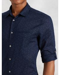 John Varvatos - Blue Short Sleeve Shirt for Men - Lyst