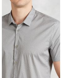 John Varvatos - Gray Pattern Dress Shirt for Men - Lyst