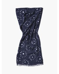 John Varvatos - Blue Woven Crinkled Floral Scarf for Men - Lyst