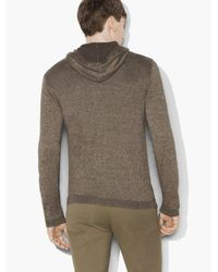 John Varvatos - Multicolor Soft Linen Zip Hoodie for Men - Lyst