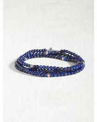 John Varvatos   Blue Lapis & Sterling Multi-wrap Bracelet for Men   Lyst