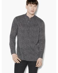 John Varvatos - Gray Abstract Printed Shirt for Men - Lyst