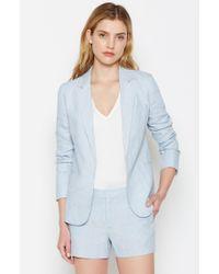 Joie | Blue Mehira Linen Blazer | Lyst