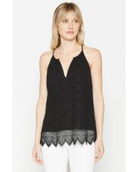 Joie | Black Ember Lace Top | Lyst