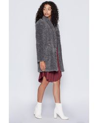 Joie - Gray Kavasia Faux Fur Jacket - Lyst