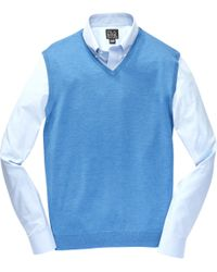 Jos. A. Bank | Blue Traveler Merino Sweater Vest Big And Tall Clearance for Men | Lyst