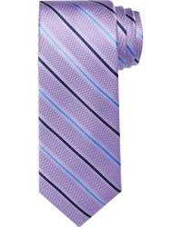 Jos. A. Bank - Purple Traveler Collection Two Tone Thin Stripe Tie for Men - Lyst