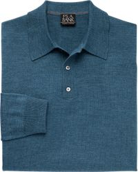 Jos. A. Bank - Blue Traveler Merino Wool Polo Sweater Big And Tall for Men - Lyst