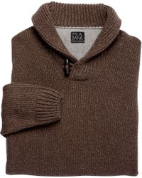 Jos. A. Bank | Brown Executive Lambswool Shawl Collar Sweater for Men | Lyst