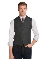 Jos. A. Bank - Gray Classic Collection Tailored Fit Charcoal Vest for Men - Lyst