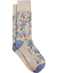 Jos. A. Bank - Blue Floral Patterned Dress Socks, 1-pair - Lyst
