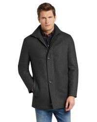 Jos. A. Bank - Gray Xecutive Collection Traditional Fit Car Coat - Big & Tall for Men - Lyst