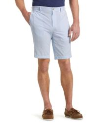 Jos. A. Bank - Blue 1905 Collection Tailored Fit Flat Front Stripe Oxford Shorts - Big & Tall for Men - Lyst