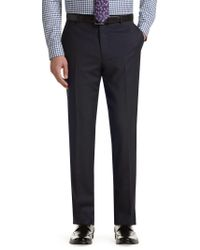 Jos. A. Bank - Blue Executive Collection Tailored Fit Plain Front Herringbone Pants Clearance - Lyst