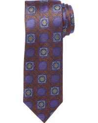 Jos. A. Bank | Blue Signature Gold Ornate Grid Medallion Tie for Men | Lyst