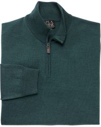 Jos. A. Bank | Green Traveler Collection Half-zip Merino Wool Sweater - Big & Tall Clearance for Men | Lyst