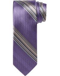 Jos. A. Bank - Purple Joseph Abboud Stripe Tie for Men - Lyst