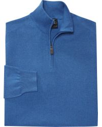 Jos. A. Bank - Blue Signature Collection Pima Cotton Quarter-zip Sweater for Men - Lyst