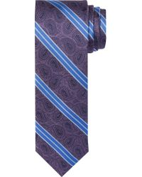 Jos. A. Bank - Purple 1905 Collection Paisleys & Stripes Tie for Men - Lyst
