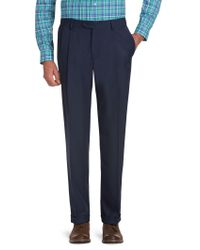 Jos. A. Bank - Blue Traveler Performance Traditional Fit Pleated Front Pants for Men - Lyst