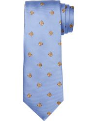 Jos. A. Bank - Blue 1905 Collection Fish Dot Tie for Men - Lyst