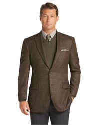 Jos. A. Bank Brown Signature Collection Traditional Fit Houndstooth Sportcoat Clearance for men