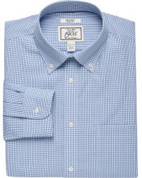 Jos. A. Bank - Blue 1905 Collection Slim Fit Button-down Collar Check Dress Shirt for Men - Lyst