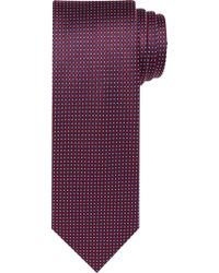 Jos. A. Bank - Purple Executive Collection Micro Check Extra Long Tie for Men - Lyst