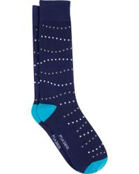 Jos. A. Bank - Gray Dotted Stripes Crew Socks for Men - Lyst