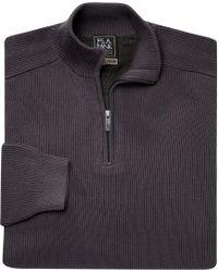 Jos. A. Bank - Gray Travel Tech Quarter-zip Mock-neck Sweater for Men - Lyst