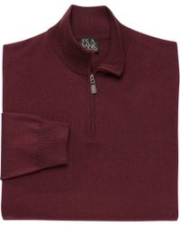 Jos. A. Bank - Multicolor Traveler Collection Half-zip Merino Wool Sweater - Big & Tall Clearance for Men - Lyst