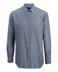 Joseph - Blue Jacques Chambray Indigo Shirt for Men - Lyst