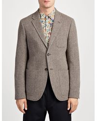 Joseph - Gray Herringbone Seaton Jacket for Men - Lyst