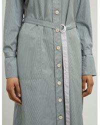 Joseph - Gray Locke Pinstripe Mix Dress - Lyst