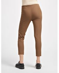 Joseph - Brown Gabardine Stretch New Tony Cropped Trousers - Lyst
