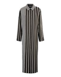 JOSEPH | Black Hetty Striped Satin Shirt Dress | Lyst