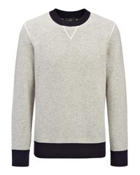 JOSEPH | Gray Bonded Cashmere Sweatshirt for Men | Lyst