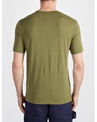 JOSEPH | Green Lyocell Jersey V Neck Tee for Men | Lyst
