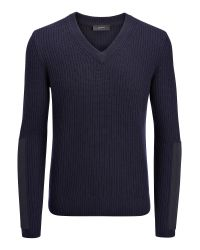JOSEPH | Blue Military Cashmere V Neck Sweater for Men | Lyst