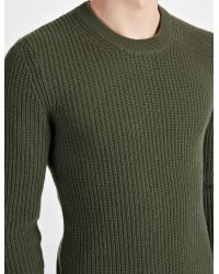 JOSEPH | Green Military Cashmere Sweater for Men | Lyst