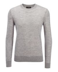JOSEPH | Gray Light Merinos Sweater for Men | Lyst