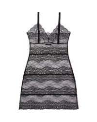 Samantha Chang - Black All Lace Boudoir Full Slip - Lyst