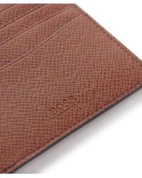 BOSS - Brown Leather Signature_8 Wallet for Men - Lyst