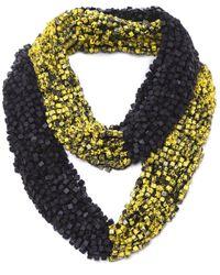 Jianhui - Yellow Wooden Bead Pashmina Necklace - Lyst