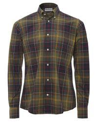 Barbour - Green Tailored Fit Tartan Herbert Shirt for Men - Lyst