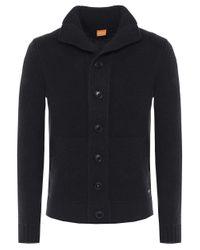 BOSS Orange - Black Kamaren Knit Cardigan for Men - Lyst