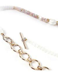 Butterfly - White Eden Rock Tassel Necklace - Lyst